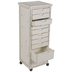 Distressed White Wood Cabinet
