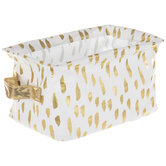 White & Gold Dashed Container