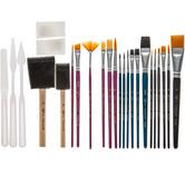 Paint Brush & Palette Knife Value Pack - 25 Piece Set