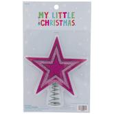 Hot Pink Glitter Star Mini Tree Topper
