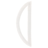 White Circular Monogram Iron-On Left Letter O - 1 3/4""