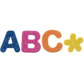 Primary Glitter Alphabet Foam Stickers