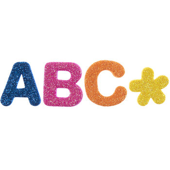 Primary Glitter Alphabet Foam Stickers