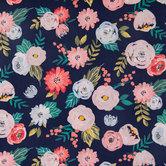 Wispy Rose & Mum Apparel Fabric