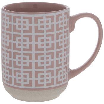Pink Square Geometric Mug