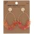 Pink & Yellow Acetate Swing Earrings