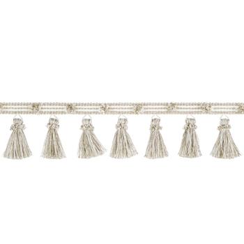 Ivory & Linen Crinkle Tassel Trim