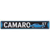 Camaro Street Metal Sign