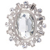 Ornate Oval Rhinestone Brooch