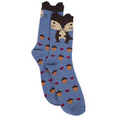 Blue Squirrel Crew Socks