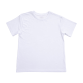 White Youth Crew Neck T-Shirt