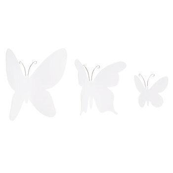 White Butterflies 3D Adhesive Wall Art