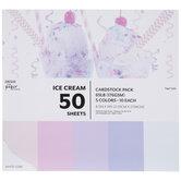 """Ice Cream Cardstock Paper Pack - 8 1/2"""" x 11"""""""