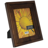 "Walnut Distressed Wood Frame - 5"" x 7"""