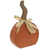 Orange Rustic Wood Pumpkin