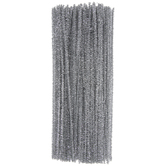 Silver Tinsel Chenille Stems Value Pack