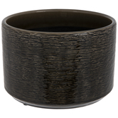 Black & Taupe Textured Flower Pot