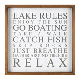 Lake Rules Wood Wall Decor