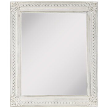 Distressed White Ornate Wood Wall Mirror Hobby Lobby 1815935