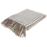 Tan Chain Striped Throw Blanket