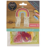 Rainbow Cross Stitch Ornament Kit