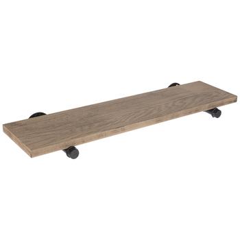 Plank & Pipe Wood Wall Shelf