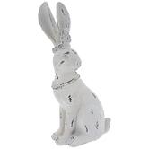 Distressed White Queen Rabbit