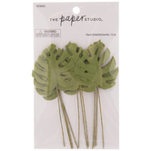 Green Monstera Leaf Embellishments