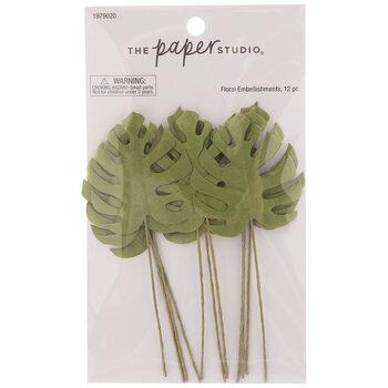 Green Monstera Leaf Embellishments