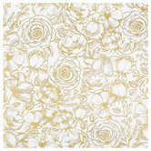 "Gold Foil Floral Scrapbook Paper - 12"" x 12"""