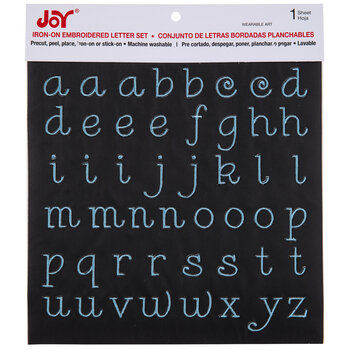 Embroidered Letter Iron-On Applique Alphabet