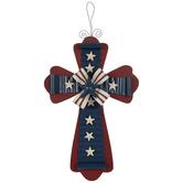 Patriotic Wood Wall Cross