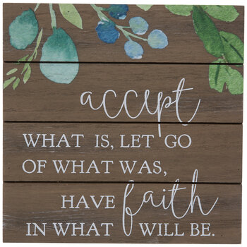 Accept & Have Faith Wood Decor