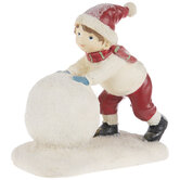 Child Rolling Snowball