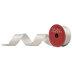 Cream & Metallic Gold Wired Edge Ribbon - 1 1/2