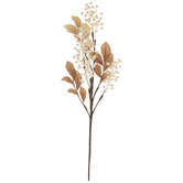 White Berry & Brown Leaves Pick