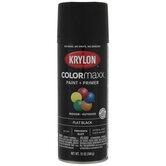 Black Krylon ColorMaxx Flat Spray Paint & Primer