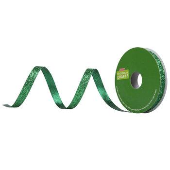 """Green Glitter Ribbon - 3/8"""""""