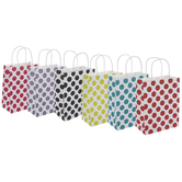 Assorted Polka Dots Craft Gift Bags