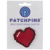 Pixel Heart Patch Pin