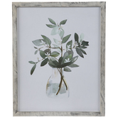 Watercolor Flowers In Vase Wood Wall Decor