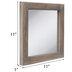Brown Distressed Wood Wall Mirror