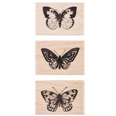 Butterfly Trio Rubber Stamps