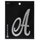 """Glitter Letter Iron-On Applique A - 3 1/2"""""""