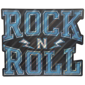 Rock N Roll Wood Wall Decor