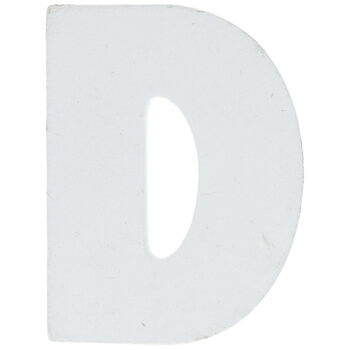 """White Wood Letters D - 2"""""""