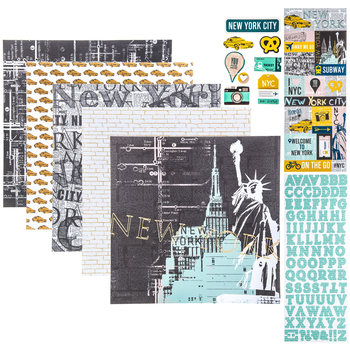 "New York Scrapbook Kit - 12"" x 12"""