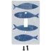 Blue Fish Single Switch Plate