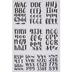 Chalk Handwritten Alphabet Stickers