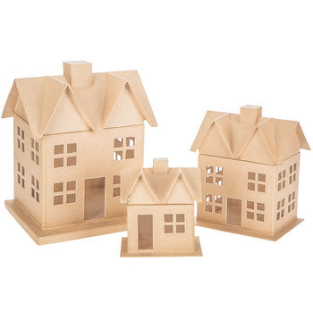 Paper Mache House Box Set